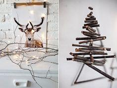 DIY Alternatieve kerstbomen | I ♥ Eco White Christmas, Christmas Trees, Garland, Diys, Creative, Alternative, Crafts, Inspiration, Decor