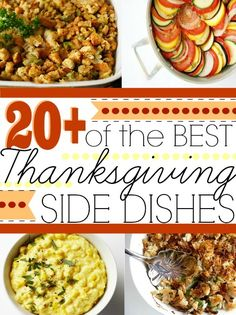 20 + of the Best Thanksgiving Side Dishes #thanksgiving #holiday #recipes