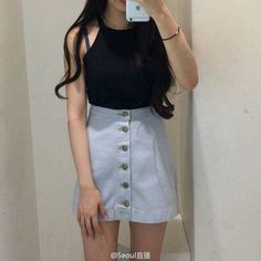 Korean Fashion Trends you can Steal – Designer Fashion Tips K Fashion, Ulzzang Fashion, Korea Fashion, Asian Fashion, Skirt Fashion, Fashion Outfits, Womens Fashion, Fashion Ideas, Korean Fashion Trends