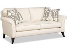 This 2 over 2 sofa comes standard with blendown seat cushions, welt trim, and a pair of 21'' throw pillows.