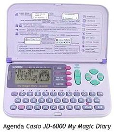 Casio JD-6000 My Magic Diary - You could not only use it as an address book, but you could create faces of your friends.