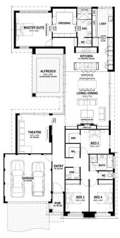 Manor - lot 15 pallium way floorplan building plans, building design, building a house New House Plans, Dream House Plans, House Floor Plans, Free Floor Plans, Home Design Floor Plans, Building Plans, Building A House, Building Design, Plantas Duplex