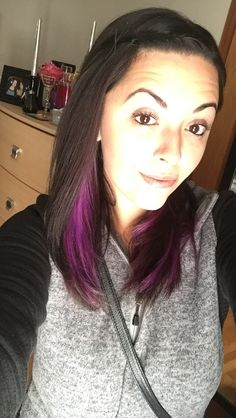 Purple peekaboo highlights