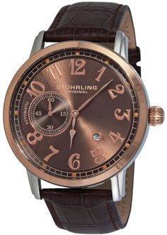 Men's Wrist Watches - Stuhrling Original Mens 229A3327K59 Classic Legacy Automatic Date Brown Watch *** Continue to the product at the image link.