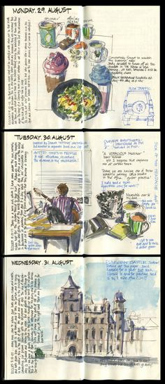 110829 First Pages S&B Sketchbook   by Liz Steel Art
