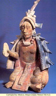 Precolumbian - Campeche - 700 CE - Maya Classic Period - Mexico