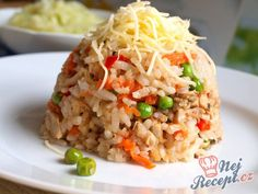 Czech Recipes, Ethnic Recipes, Fried Rice, Bon Appetit, Food And Drink, Cooking, Czech Food, Per Diem, Cooking Rice