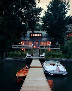 a house with dock, I'd be okay with that
