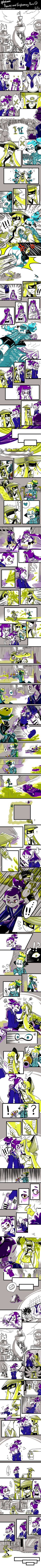 [Splatoon] Beauty and Frightening long comic part1 by zzoza