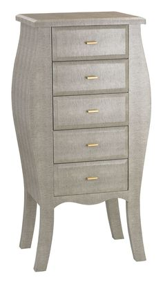 Fuquay Bowed Shagreen 5 Drawer Lingerie Chest