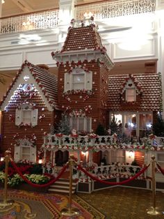 Life size ginger bread house at Disney World