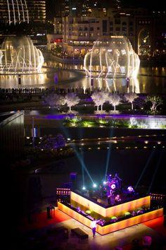 Dubai - the dancing fountains of the Burj Khalifa Dubai City, Dubai Uae, Wonderful Places, Beautiful Places, Ras Al Khaimah, Visit Dubai, Dubai Travel, Sharjah, Night City