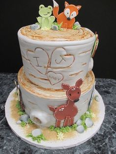 Amazing Woodland Baby Shower Cake.