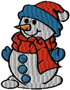 Snowman iron on or sew on patch Snowman by EmbroideryPatchLove