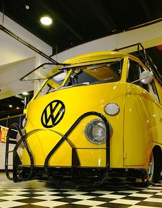 Slammed Yellow Bus