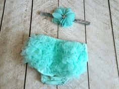 Baby Girl Ruffle Bottom Bloomer & Headband Set in por coutureflower
