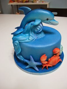 Patty Art Studio Cukrovou Pastou Figurky Dolphin Birthday Cakes Cake Templates
