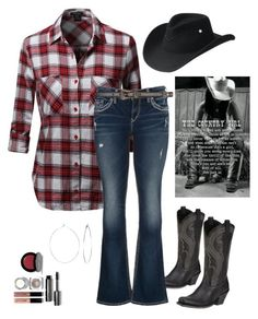 """""""Country Girl"""" by im-karla-with-a-k ❤ liked on Polyvore featuring Bobbi Brown Cosmetics, Ariat, Bailey Western, maurices, Yves Saint Laurent, Phyllis + Rosie and country"""