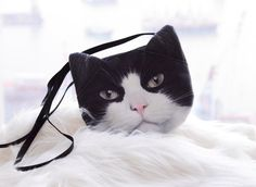 Black and White cat cross body, b/w cat shoulder bag, b/w cat bag, b/w cat clutch, novelty , pouch, purse, cat lovers , SB-276
