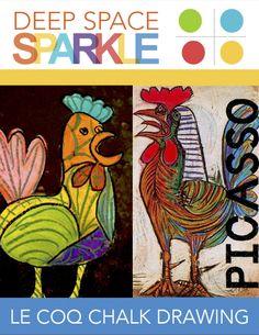 Picasso's Le Coq (The Rooster) Lesson Plan Kunst Picasso, Picasso Paintings, Picasso Art, Pablo Picasso, Deep Space Sparkle, Cubist Portraits, Portrait Paintings, Animal Portraits, Animal Art Projects
