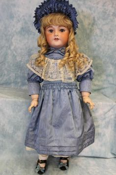 "33"" Gorgeous Unis France 301 French antique bisque Doll Life Size a from turnofthecenturyantiques on Ruby Lane"