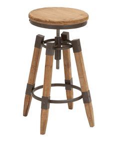 Another great find on #zulily! Vintage Adjustable Bar Stool #zulilyfinds
