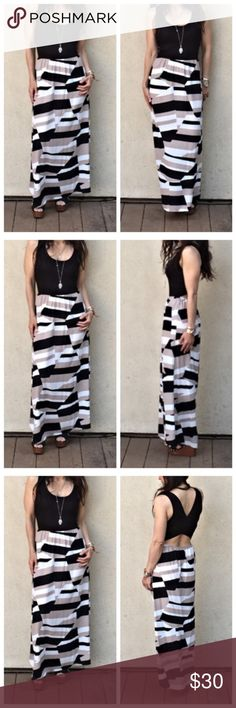 🆕 NWOT COLOR BLOCK MAXI🆕 Stunning maxi with vibrant colors.  Comfortable fabric with cute cut out back. Photos compliments of MissAisha555 NWOT Dresses Maxi