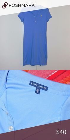 Ralph Lauren Periwinkle Polo Shirtdress Sz S Sold as shown. Excellent condition, no piling. Ralph Lauren Dresses Mini