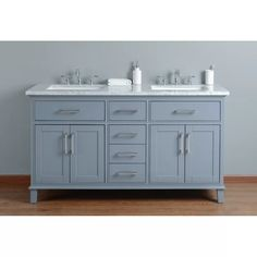 "Mundy 60"" Double Bathroom Vanity Set & Reviews 