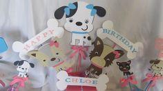 Puppy Party Centerpiece  7piece set by DreamComeTrueParties, $30.00