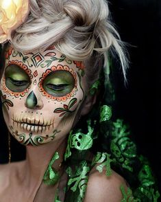 #sugarskull #amazingmakeupart #facepaint #halloween #makeup #muah #seattlemakeup