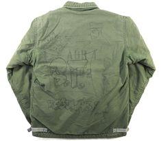 85's U.S.NAVY A-2デッキジャケット ハンドペイント! 表記(M)