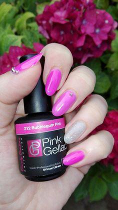 Pink Gellac 212 bubblegum pink and diamond silver