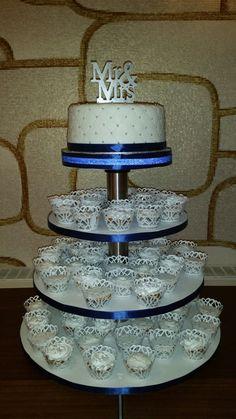 Bruidstaart met cupcake's