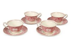 West Point Cups & Saucers, Set of 4