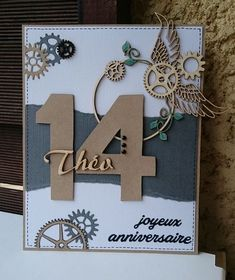 Iris Folding, Kirigami, Masculine Cards, Birthday Cards, Letters, Frame, Blog, Adolescents, Decor