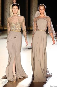 Ellie Saab Glamour wedding gowns # love the front of that dress! Would wear it on other occasions too!