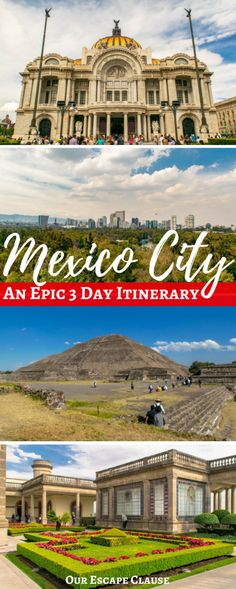 Planning an epic 3 days in Mexico City? Follow this Mexico City itinerary through the best neighborhoods, archaeological sights, parks, museums, and more! #mexico #mexicocity #travel #travelitinerary #itinerary #mexicocityitinerary