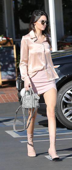 We're loving Kendall Jenner's all-pink ensemble