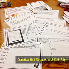 Quick writes bell ringers and exit slips for implementing the Common Core State Standards. School Info, School Tool, School Resources, School Ideas, School Stuff, High School Classroom, English Classroom, Teaching Tips, Teaching Reading