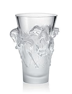 "Lalique Equus Vase $26,000.00 15"" Item #10207200 Limited edition to 999 pieces. Born from Lalique's desire to celebrate the intensity and grandeur of wild horses. Masterpiece of the collection by virtue of its majestic relief."