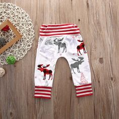 Plaid & Striped Moose Harem Pants from kidspetite.com!  Adorable & affordable baby, toddler & kids clothing. Shop from one of the best providers of children apparel at Kids Petite. FREE Worldwide Shipping to over 230+ countries ✈️  www.kidspetite.com  #trousers #infant #baby #pants #boy #newborn #clothing