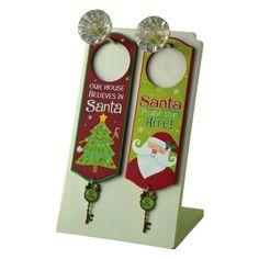 Grasslands Road Holiday Studio 100 Key for Santa Door Knob Hanger Party Favors, Set of 16