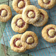 We found the best recipes from North Dakota—all submitted by local home cooks. Discover ND favorites from comforting knoephla soup to tart rhubarb desserts. Cookies Fourrés, Filled Cookies, Cookies Et Biscuits, Pink Cookies, Sweet Cookies, Strawberry Rhubarb Sauce, Blueberry Rhubarb, Rhubarb Bread, Rhubarb Cobbler