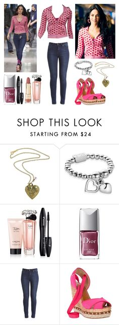 """""""Jennifer's body ♡"""" by shanelle-khl ❤ liked on Polyvore featuring beauty, Verde Rocks, ChloBo, Lancôme, Christian Dior, Dolce&Gabbana and Forever 21"""