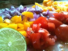 mango salsa via powercakes