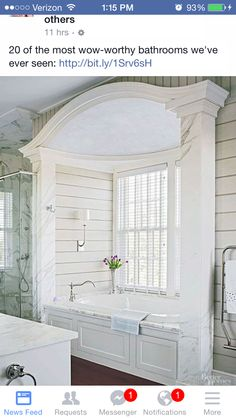 Beautiful tub surround