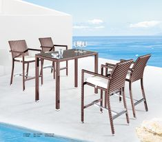 Collections Outdoor Patio Furniture PATIO BAR SET CT82008 CT8668