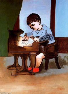 'Paul disegno', olio di Pablo Picasso (1881-1973, France)