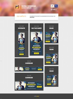 Maxima   Business HTML 5 Animated Google Banner Banner Template, Web Banner, Google Banner, Animation, Ads, Graphic Design, Templates, Logos, Business